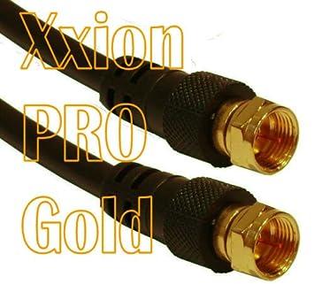 Xxion PRO dorado - 1 metre conector macho F/a conector macho F/Conector
