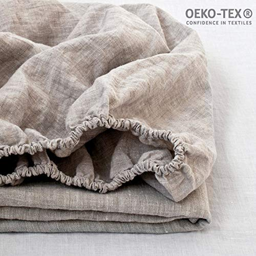 Simple&Opulence 100% Linen Fitted Sheet