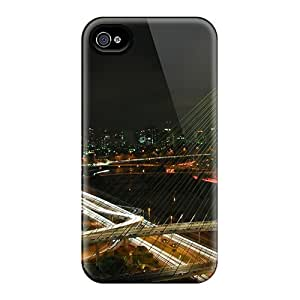 For Iphone 4/4s Tpu Phone Case Cover(octavio Frias De Oliveira Bridge)