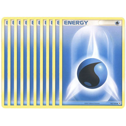 Pokemon Cards - LOT of 10 Water Energy Cards (Blue)