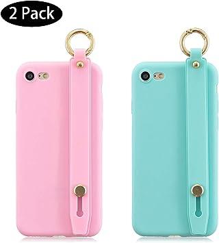 Leton [2 Pack] Funda iPhone 7 Rosa Verde, Carcasa para iPhone 7/8 ...