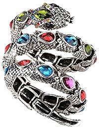 Angel Jewelry Women's Crystal Stretch Snake Bracelet