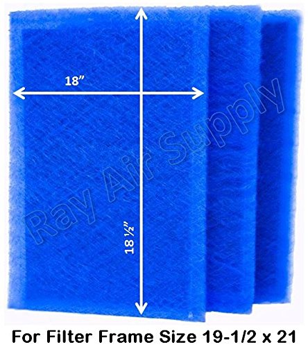 RAYAIR SUPPLY 19.5 x 21 Dynamic Air Filters (3 Pack) (19 1/2 x 21) For Sale
