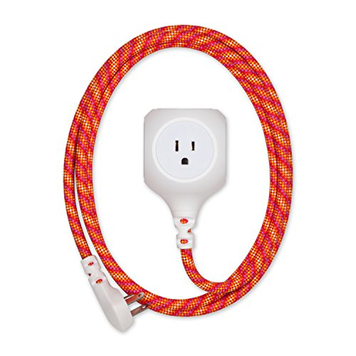 360 Electrical 360467 Habitat Braided Extension Cord with 2.4A Dual USB, 6 Accent, 6 ft. , Sunset - Blaze 360 It