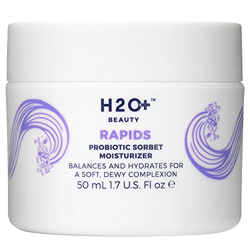 - H2O+ Beauty Rapids Probiotic Sorbet Facial Moisturizer Lotion with Champagne and Yuzu Extracts, 1.7 ounce