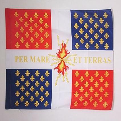 AZ FLAG Bandera de la COMPAGNIE FRANCHES DE LA Marina Real Francesa 90x90cm para Palo - Bandera Ejercito DE Francia 90 x 90 cm: Amazon.es: Jardín