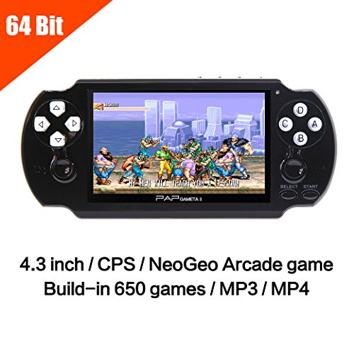 JXD 64Bit 650 Games Handheld Game Console 4.3 Inch Mp5 Po...