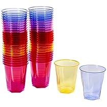 drinkstuff A79-92C-E66 - Pack de 50 vasos desechables, 250 ml, varios colores