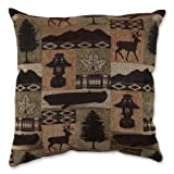 Pillow Perfect 528816 Lodge Throw Pillow, 18-Inch, Evergreen