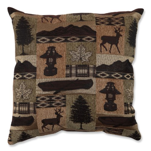 Pillow Perfect Lodge Throw Pillow, 18-Inch, Evergreen