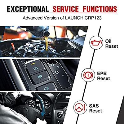 Launch CRP129 OBD2 ENG/AT/ABS/SRS EPB SAS OIL Service Light Resets Code Reader for Mechanic and Experienced Enthusiast: Automotive