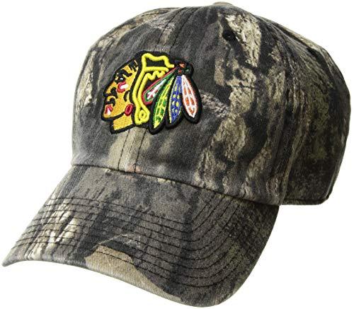 - OTS NHL Chicago Blackhawks Male Mossy Oak Challenger Adjustable Hat, Mossy Oak-Blades, One Size