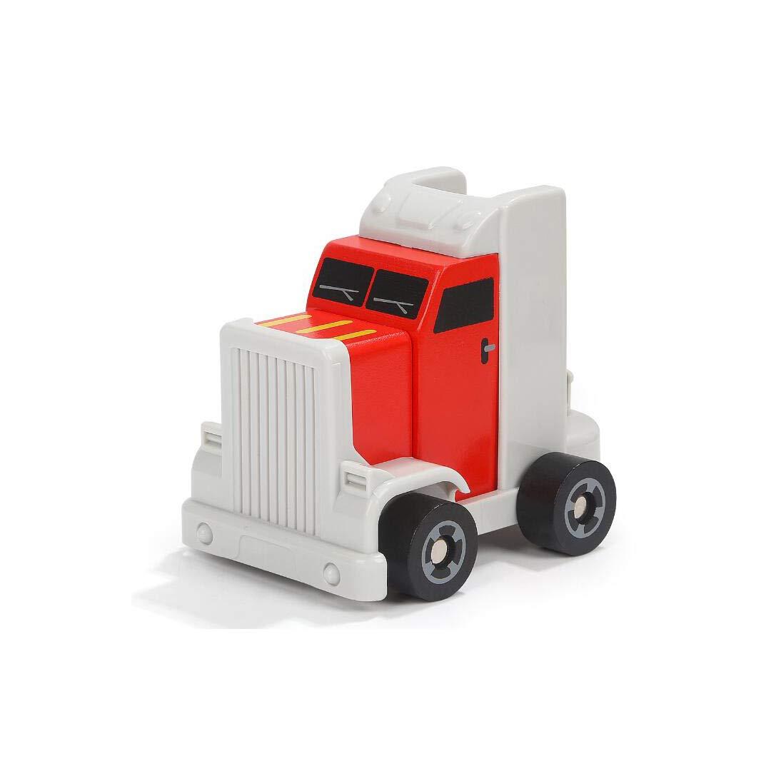 GAIXIA Set modellolo di Auto Giocattolo Camion Smontato in Legno per Bambini A Due Piani Giocattoli educativi per Bambini