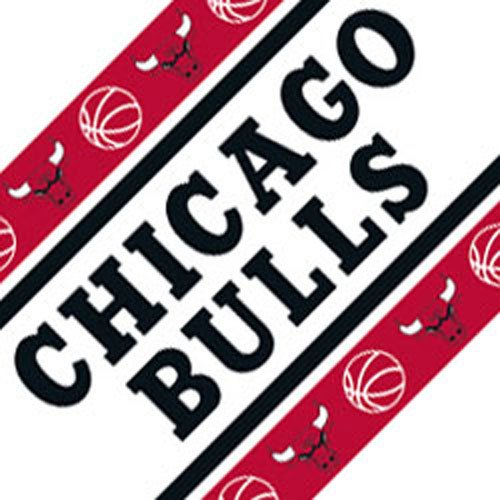 Chicago Bulls Wall Border Bright Red by Pem America
