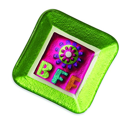 DEMDACO Silvestri Glass Fusion BFF Trinket Plate