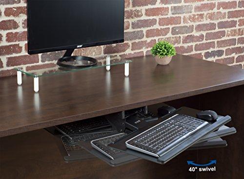Vivo Black Adjustable Computer Keyboard Amp Mouse Platform
