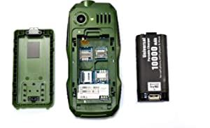 Triple Sim Mobile with 10,000 mAh Battery - Black: Amazon
