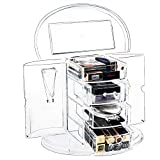 Frebeauty Acrylic Makeup Organizer Jewelry Cosmetic Storage Display Box Large Capacity Makeup Case with Drawers