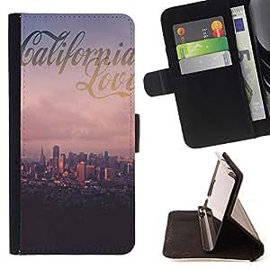 King Art - Premium-PU-Leder-Prima caja de la PU billetera de cuero con ranuras para tarjetas, efectivo Compartimiento desmontable y correa para la mu?eca FOR Sony Xperia Z3 Compact- California Summer