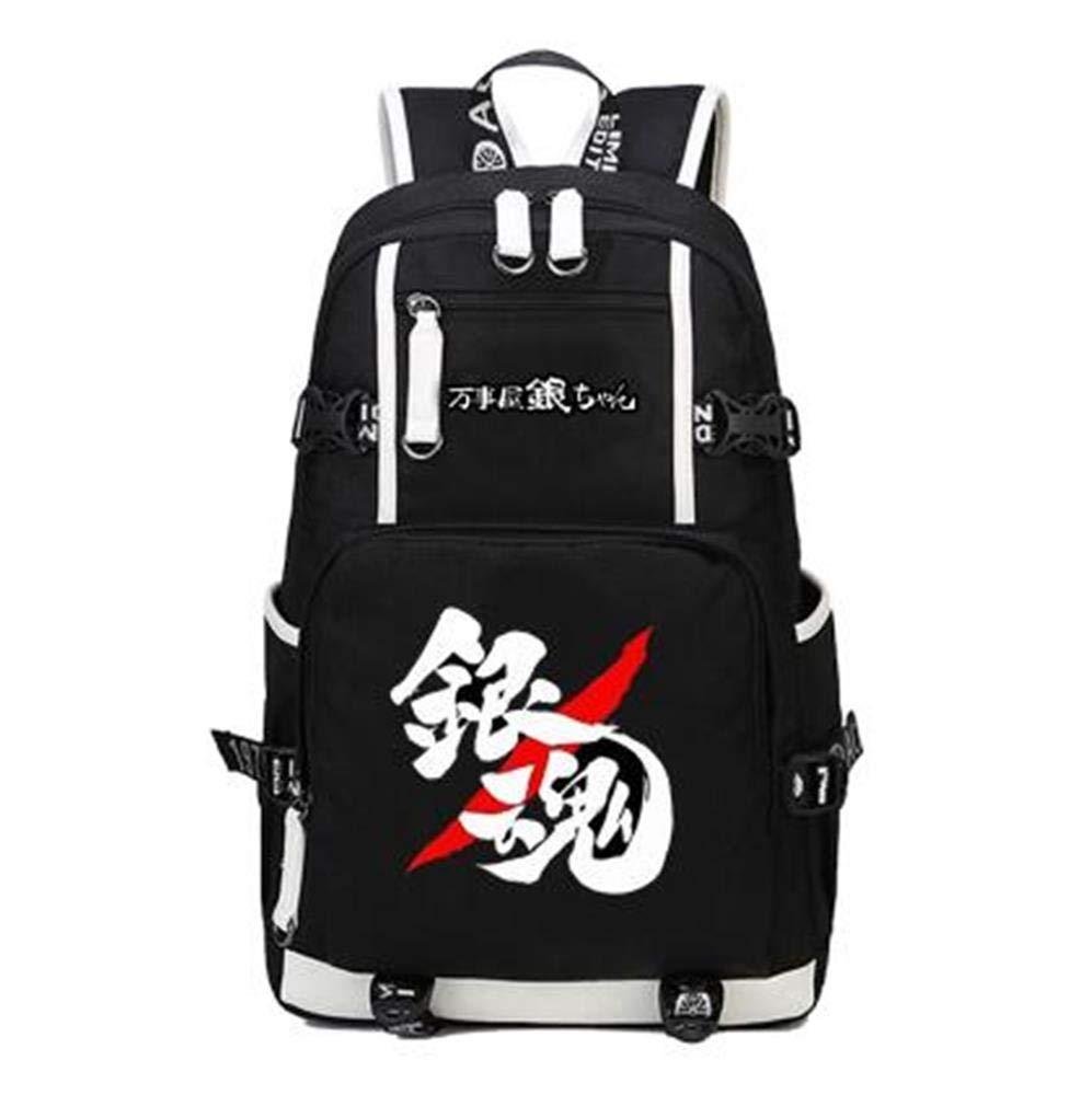 Unisex Anime Backpack Teenager School Bag Laptop Bag Travel Camping Daypack,B
