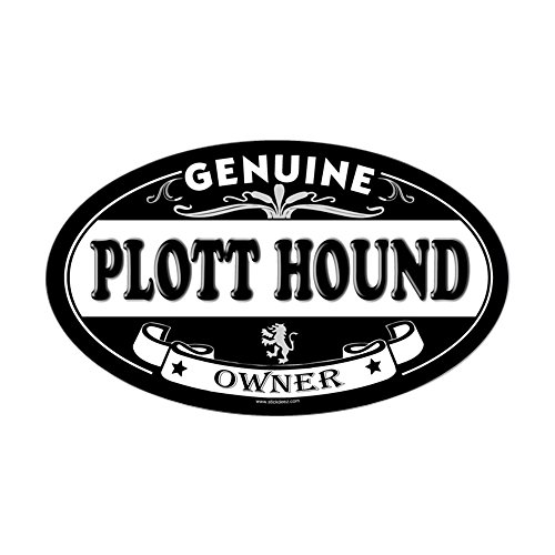 (CafePress Plott Hound Oval Sticker Oval Bumper Sticker, Euro Oval Car Decal)