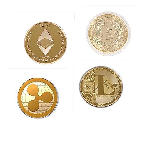 Hidream®Gold Plated Bitcoin Coin Collectible Gift BTC Coin Art Collection Physical YG