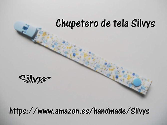 Bonito Chupetero de tela con clip Silvys para sujetar el ...