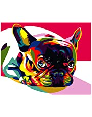 S-TROUBLE Dog DIY Paint by Numbers Modern Wall Art Picture para niños y Adultos