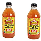 Bragg USDA Gluten Free Organic Raw Apple Cider Vinegar, With the Mother zPACaT, 2Pack (16 oz)