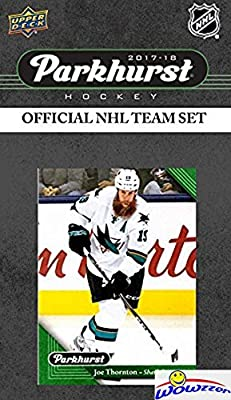 San Jose Sharks 2017/18 Upper Deck Parkhurst NHL Hockey EXCLUSIVE Limited Edition Factory Sealed 10 Card Team Set including Patrick Marleau, Joe Thornton& all the Top Stars & RC's! WOWZZER!