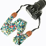 Alled Camera Strap, Soft Scarf Vintage Print Camera Straps for Women/Men, Camera Neck Shoulder Belt Strap for DSLR/SLR/Nikon/Canon/Sony/Olympus/Samsung/Pentax ETC
