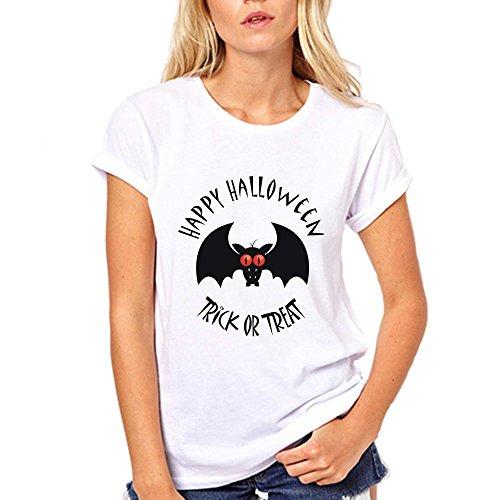 GullPrint Women's Happy Halloween Trick or Treat T Shirt X-Large Pink