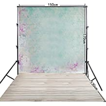 FiVan�-CA 5x10ft Newborn photography backdrop prop Light green photo background FF-066