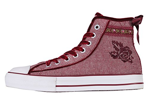Up Women's Valentine Red Shoe Rot Madl Krüger Lace HFSH8
