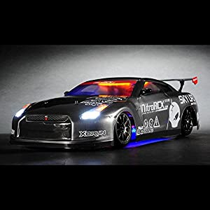 Exceed RC 2.4Ghz MadSpeed Drift King Brushless Edition 1/10 Electric Ready to Run Drift Car w/ LED Head Lights (Grey)Charger is NOT INCLUDED