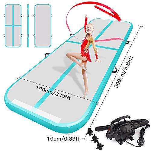 (Resour Airtrack Tumbling Mats Inflatable Gymnastics Air Track for Cheerleading/Gymnastics/Home/Yoga/Training/Kids/Sport/Taekwondo/Game/Water Activities)