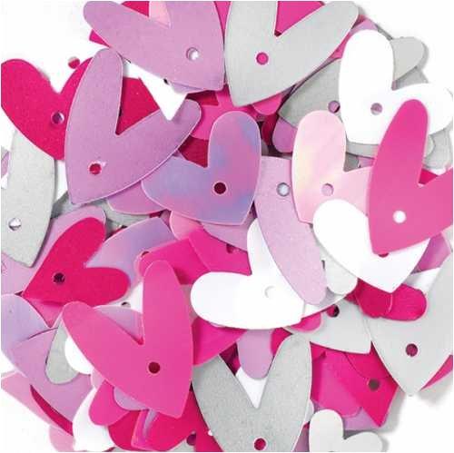 DOODLEBUG Sequin Assortment, Heart Loopy Love
