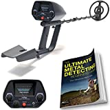NHI Metal Detector Starter Kit - Metal Detectors Waterproof Coil Measures 7.5 Inches - Includes 72 Page Beginners Guide & Folding Shovel