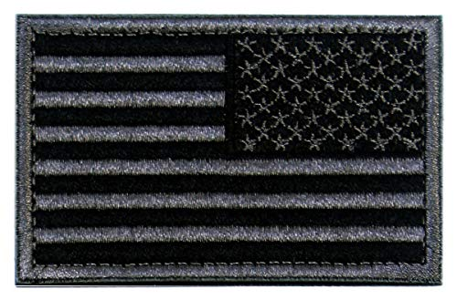 - Tactical Patches of USA US American Flag Reverse, with Hook and Loop for Backpacks Caps Hats Jackets Pants, Military Army Uniform Emblems, Size 3x2 Inches