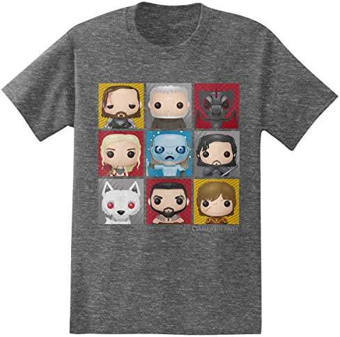 HBO'S Game of Thrones Men's Funko Character Boxes T-Shirt
