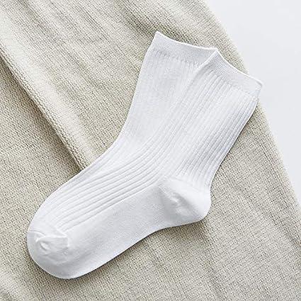 KWXHG 4 Pares de Calcetines japoneses, algodón para Mujer, Rayas Verticales, Pilas de