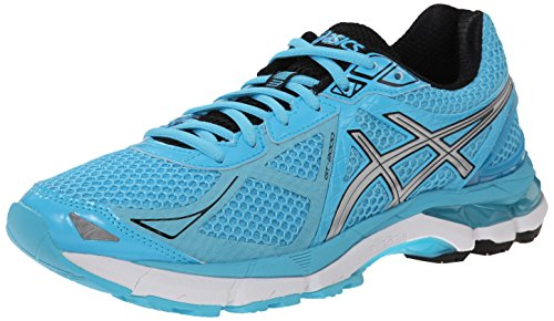 ASICS Women's GT-2000 3 Running Shoe, Turquoise/Silver/Black, 12 M US by ASICS