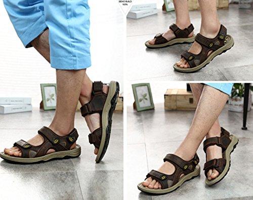 Sandalias Sandalias De Los Hombres Zapatillas Zapatos De Vadeo Exterior Brown