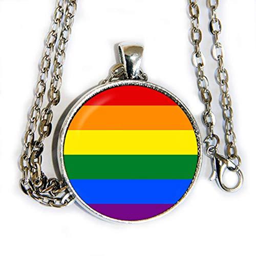 Pride Flag Colors - pendant necklace -