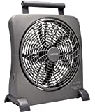 O2 Cool 10 Inch Rechargeable Energy Efficient Swivel Fan with USB