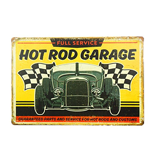 (dingleiever DL-Full Service - Hot Rod Garage Tin Sign 812 inch)