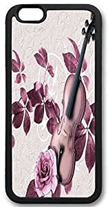 Custom Iphone 6 Plus Case,Guitar flowers Iphone 6 Plus Cases,TPU Black Iphone 6 Plus(5.5) Cases FAQA Case