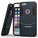 iPhone 6 Plus Case, Pasonomi® [Heavy Duty] [Shock-Absorption] [Kickstand Feature] Hybrid Dual Layer Armor Defender Full Body Protective Case Cover for iPhone 6 Plus (5.5Inch) (Dark blue)
