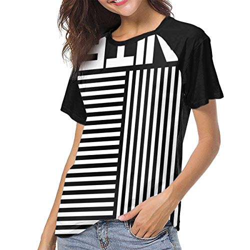 (Hillsong United Woman Sports Baseball Short Sleeves T Shirt Raglan Sleeve Pattern Tees XL Black)