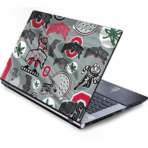 Skinit Ohio State University Generic 17in Laptop (15.2in X 9.9in) Skin - Ohio State Pattern Design - Ultra Thin, Lightweight Vinyl Decal -